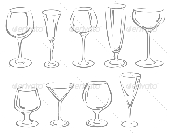 GraphicRiver Alcohol glasses 4023160