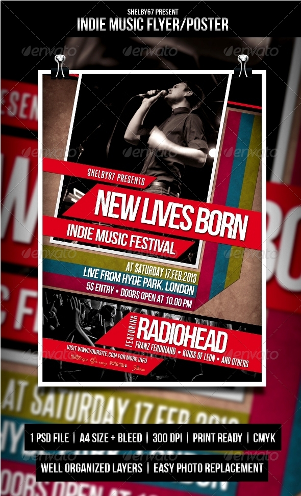 GraphicRiver Indie Music Flyer Poster 4023361