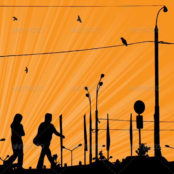 GraphicRiver Sunrise In The City 4023578