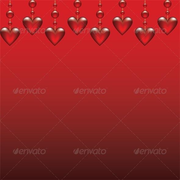 GraphicRiver glass hearts 4023648