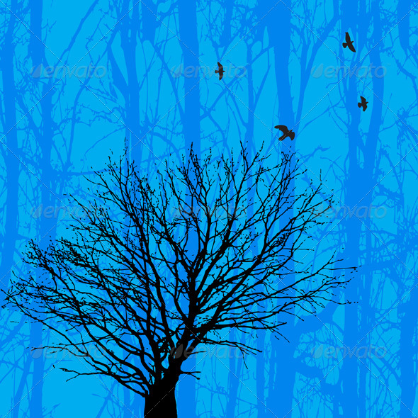 GraphicRiver Birds And Tree 4023650
