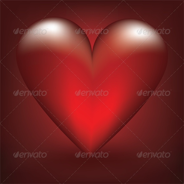 GraphicRiver glass red heart 4023658