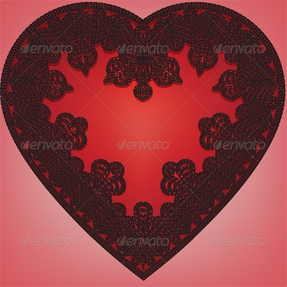 GraphicRiver lace heart 4023697