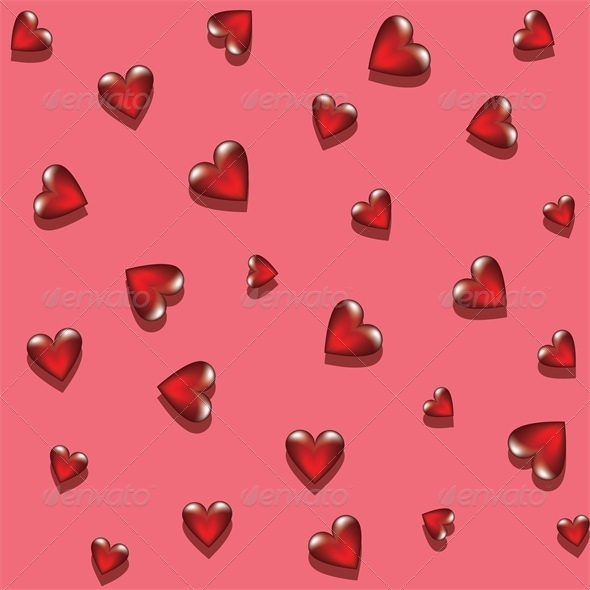 GraphicRiver glass hearts 4023721