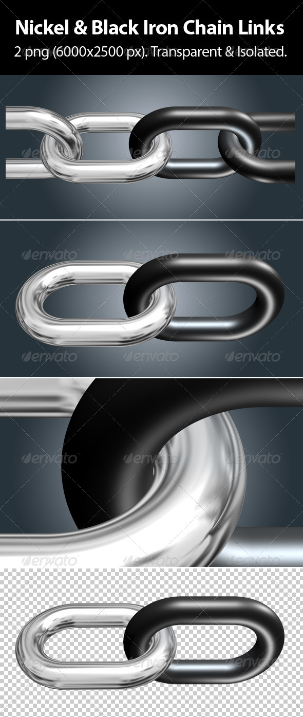 GraphicRiver Nickel & Black Iron Chain Links 4023728