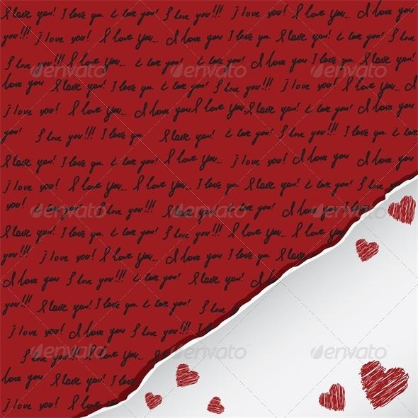 GraphicRiver Handwritten I Love You 4023735