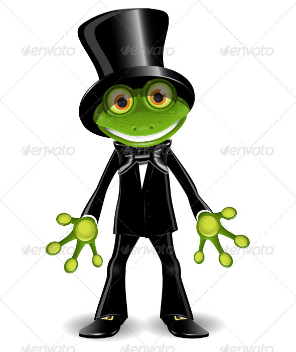 GraphicRiver Frog in a Top Hat 4023795