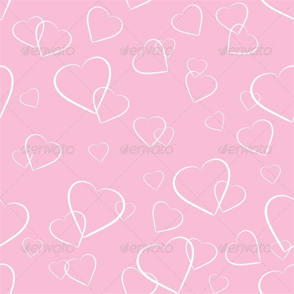 GraphicRiver White Hearts on Pink Background 4023805