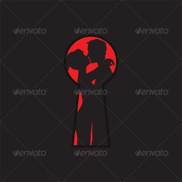 GraphicRiver Peep Through the Keyhole for Lovers 4023807