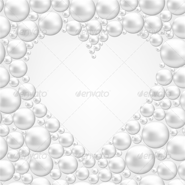 GraphicRiver Background with Pearl Heart 4023831