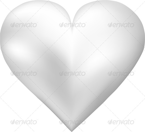 GraphicRiver White Pearl Shaped Heart 4023839
