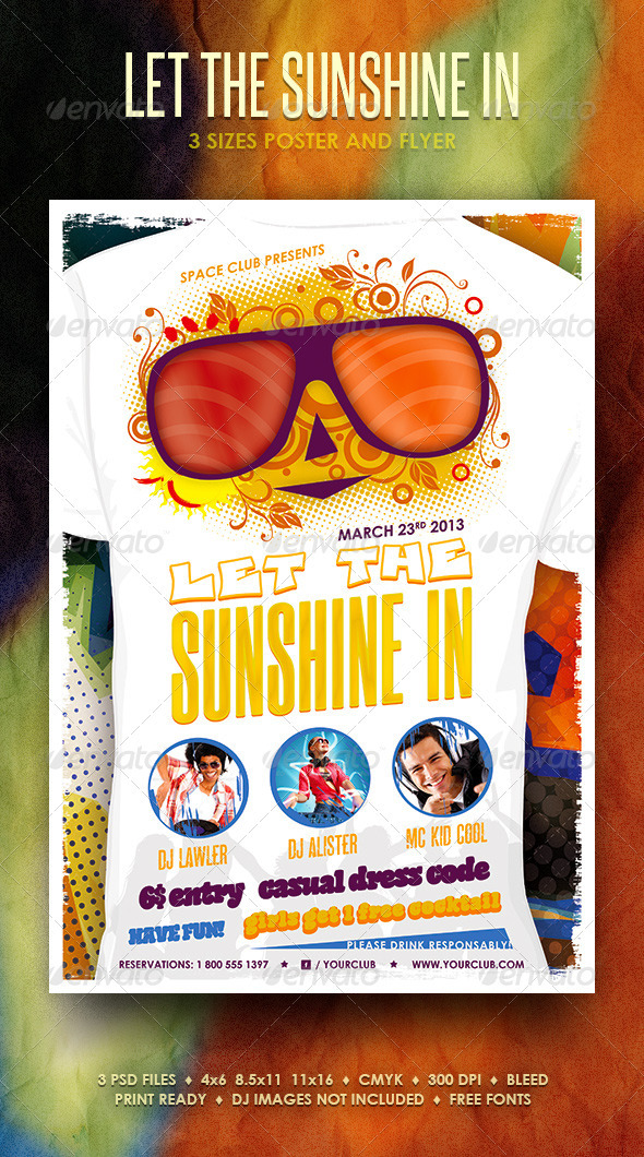 Let The Sunshine In Poster and Flyer