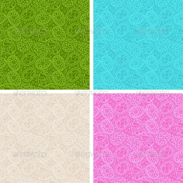 GraphicRiver Happy Easter Egg Seamless Patterns Set 4023865