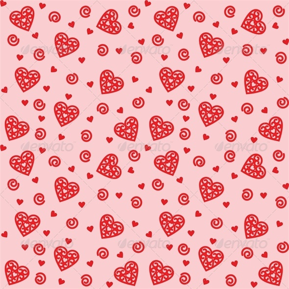 GraphicRiver Background with Intricate Hearts 4024058