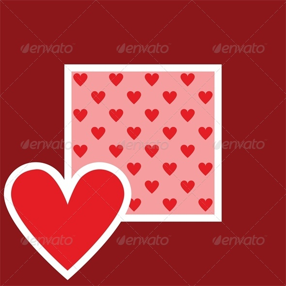 GraphicRiver Valentine greeting card with heart pattern 4024076