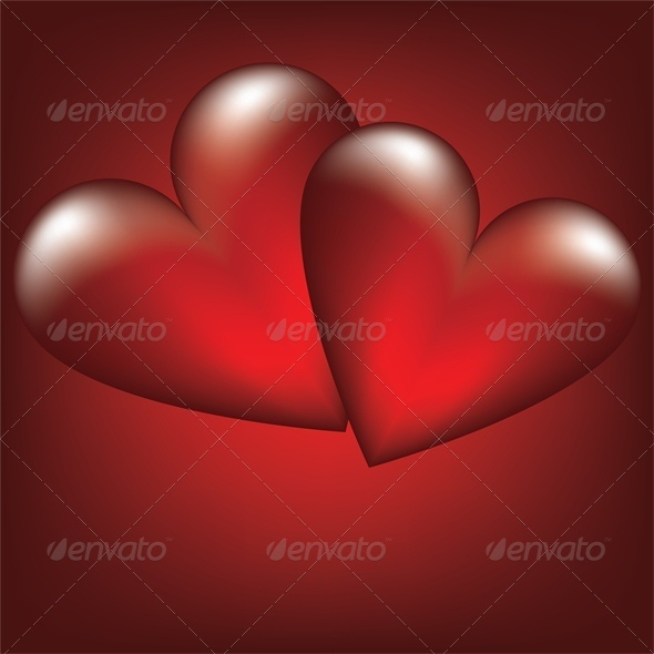 GraphicRiver Valentine card with two heart 4024078