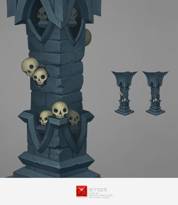 Stone Pillar 02 Concept - 3DOcean Item for Sale