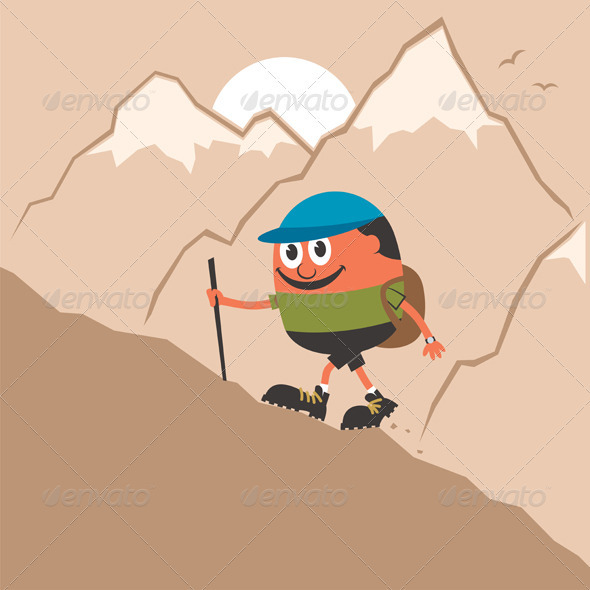 GraphicRiver Mountaineering 4024310