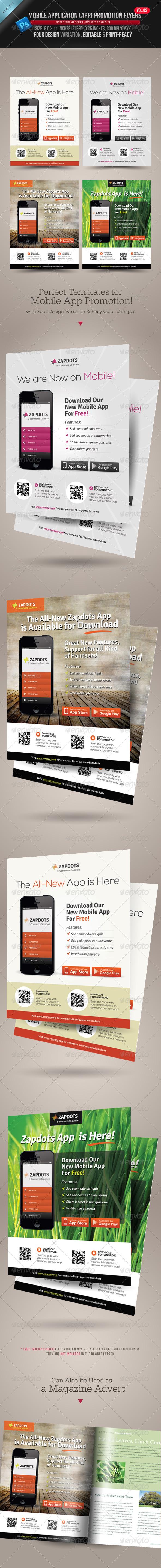 GraphicRiver Mobile App Promotion Flyers Vol.02 4024421