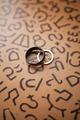 Wedding rings on pattern - PhotoDune Item for Sale