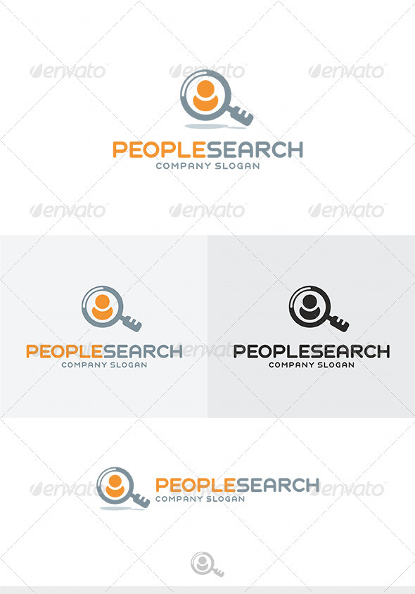 GraphicRiver People Search Logo 4024800