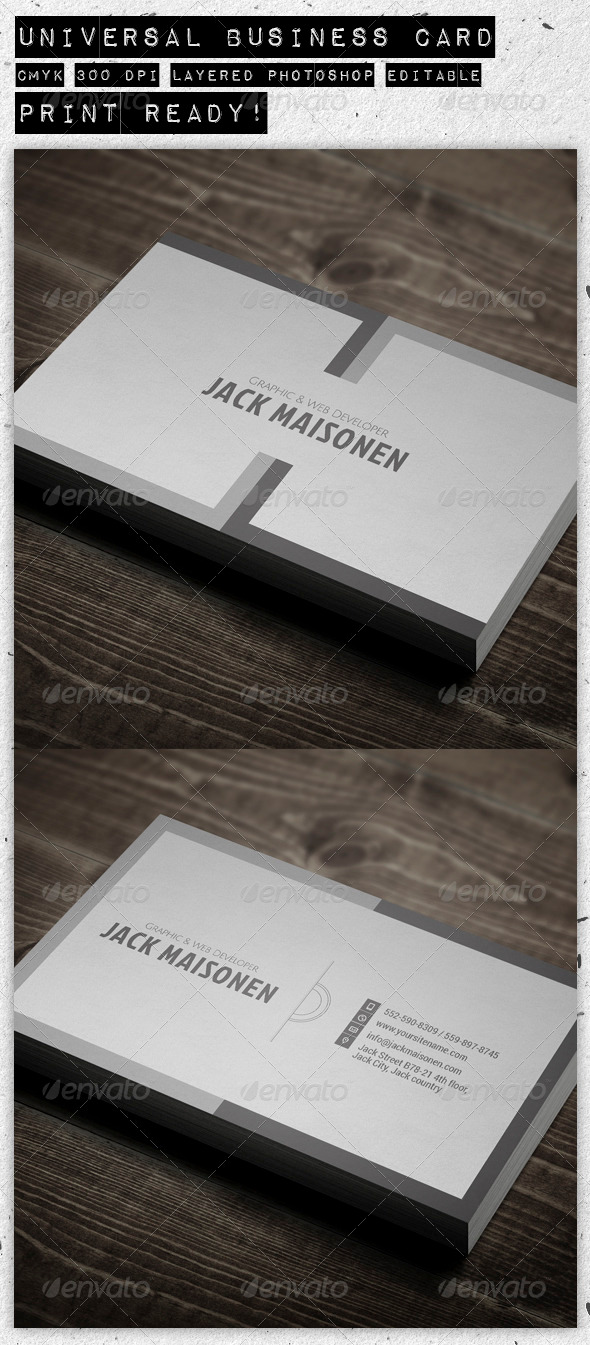 GraphicRiver Universal Business Card 3915844