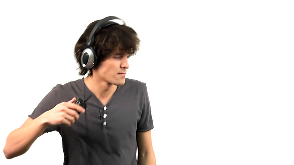 VideoHive Young Man Listening to Music in Headphones 4025031