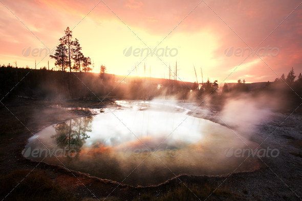 Morning Glory Pool - Stock Photo - Images