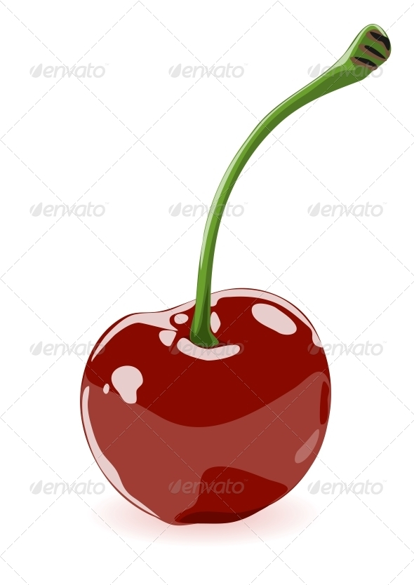 GraphicRiver Vector illustration of a cherry 4025178