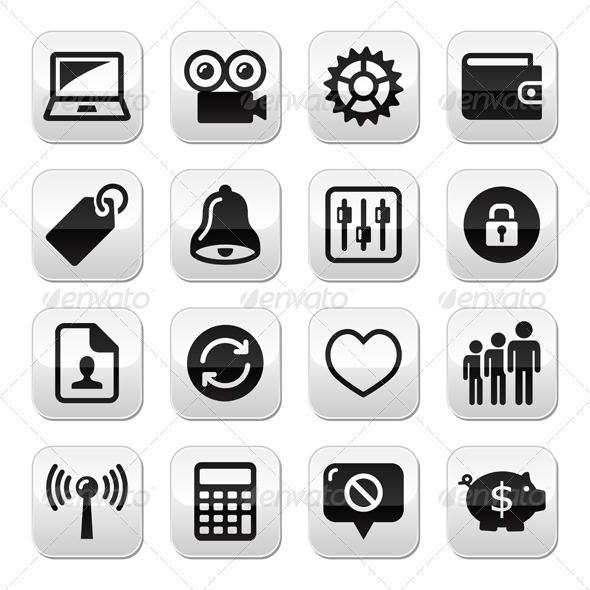 GraphicRiver Web internet buttons set vector 4025179