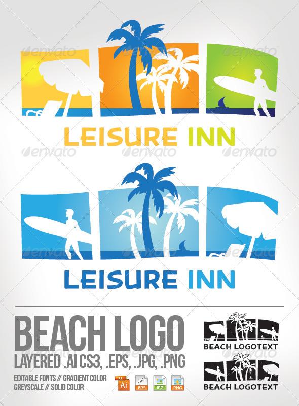 GraphicRiver Beach Logo Template 3883877