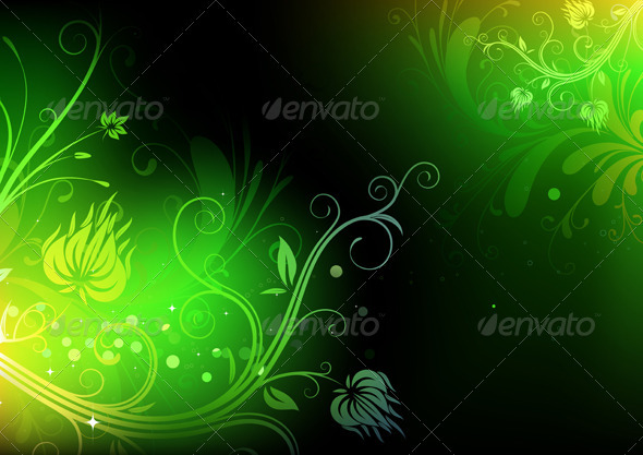 GraphicRiver Floral Background 4025612
