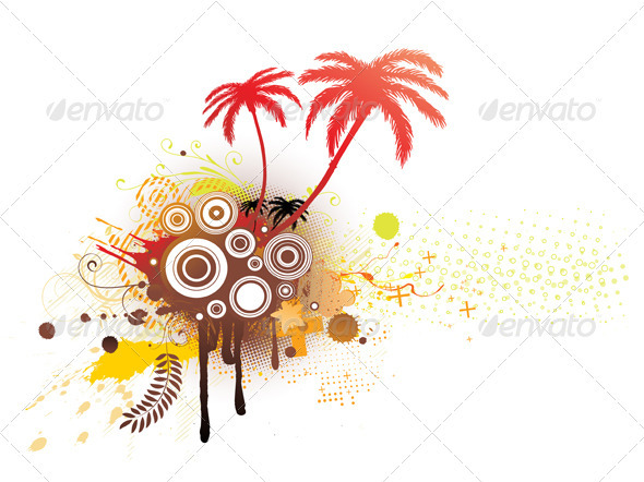 GraphicRiver summer background 4025711