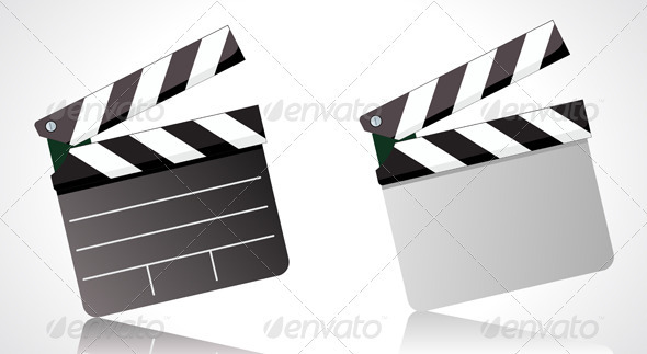 GraphicRiver movie clapper board 4025744