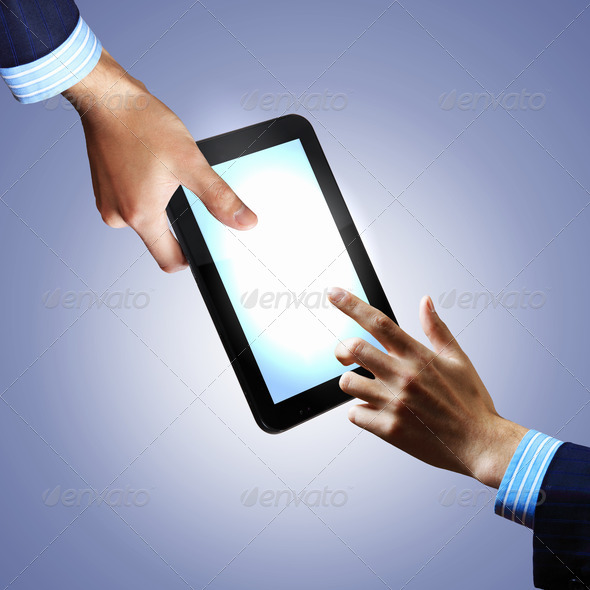 Modern computer technology in business - Stock Photo - Images