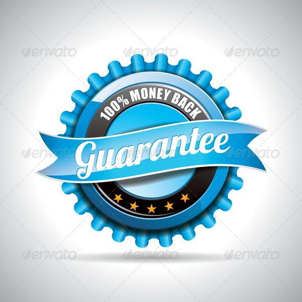 GraphicRiver Vector Guarantee Labels Illustration 4026234
