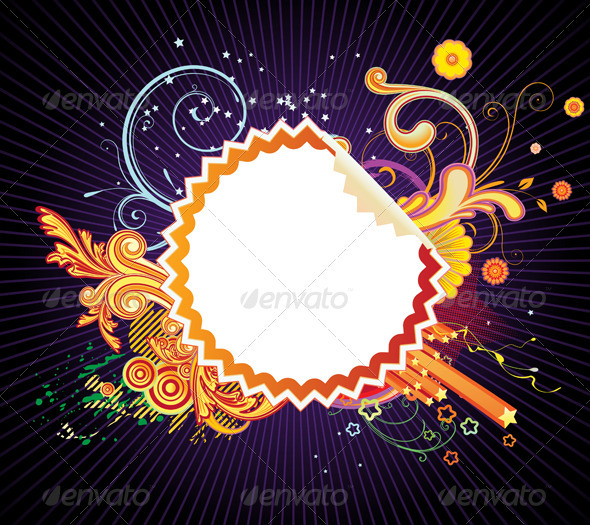 GraphicRiver Funky Styled Design Frame 4026238