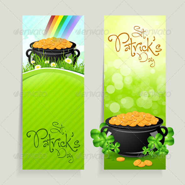 GraphicRiver Set of St Patricks Day Cards 4026456