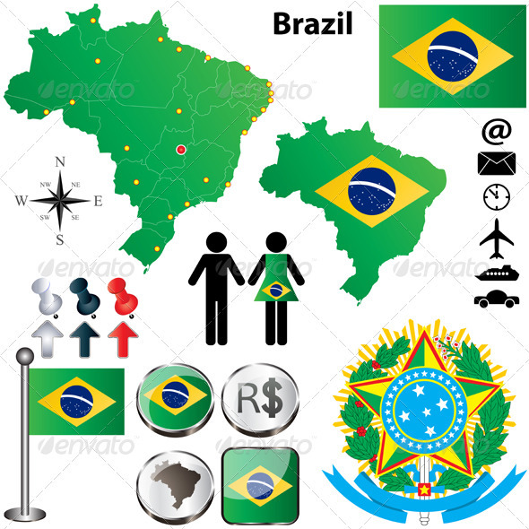 GraphicRiver Brazil Map 4026579