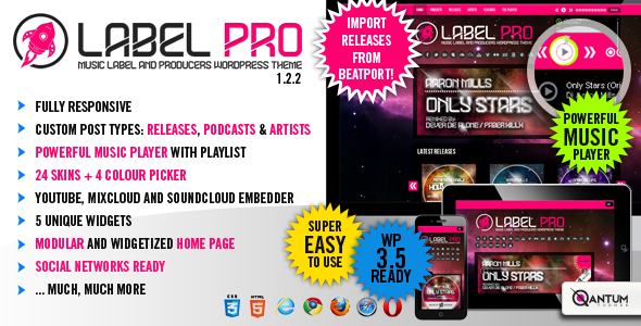 LabelPro - Responsive Music Wordpress Theme - Art Creative