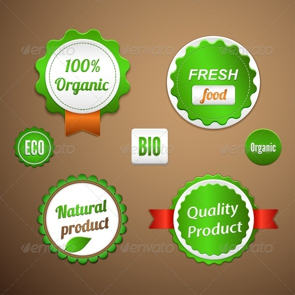 GraphicRiver Organic Labels Logos and Stickers 4026866