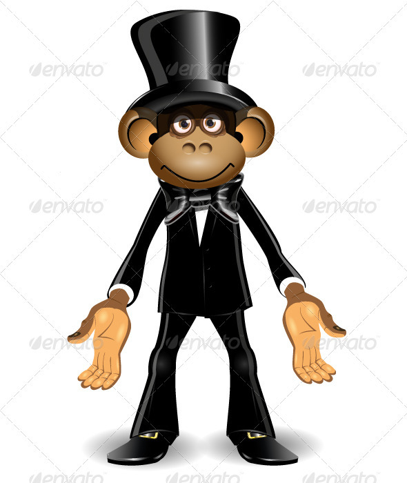 GraphicRiver Monkey in a Top Hat 4026936