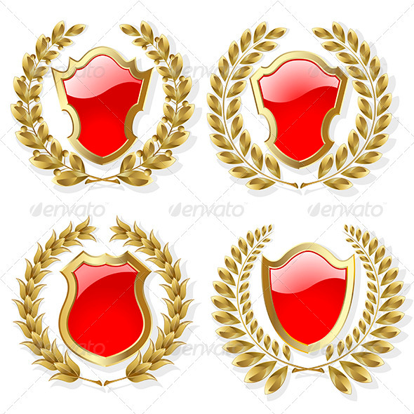 Set of Heraldic Elements - Miscellaneous Vectors