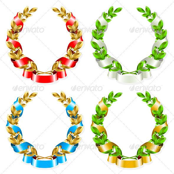 GraphicRiver Laurel wreath 4027093