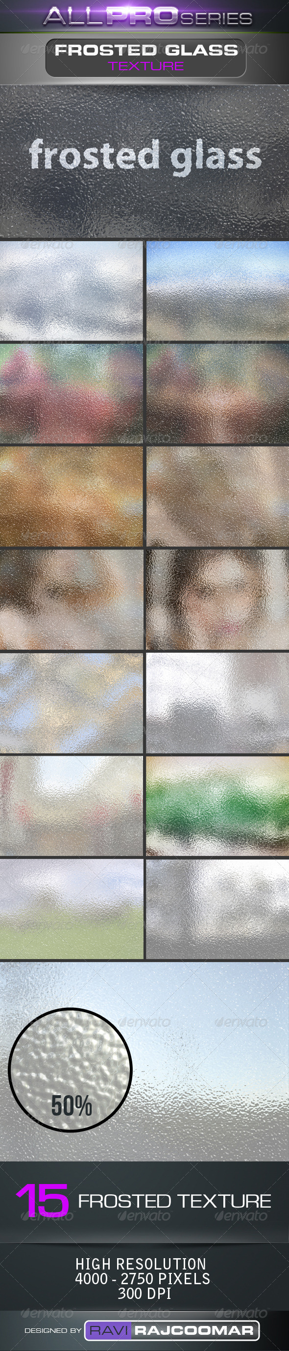 GraphicRiver Frosted Glass Backgrounds 4027095