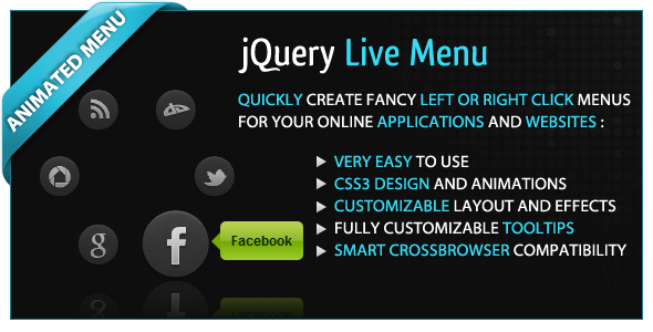 jQuery Live Menu - CodeCanyon Item for Sale
