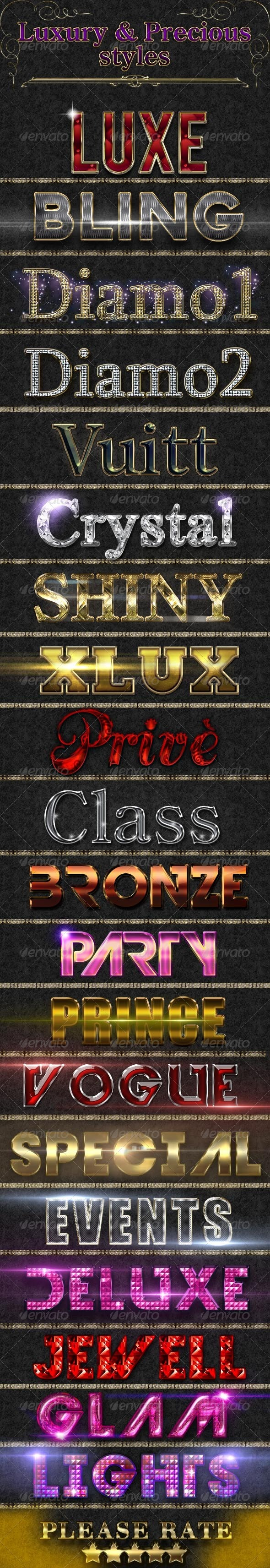 Luxury & Precious Styles - Text Effects Styles