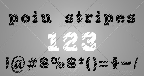 GraphicRiver Poiu Stripes Font 4027399