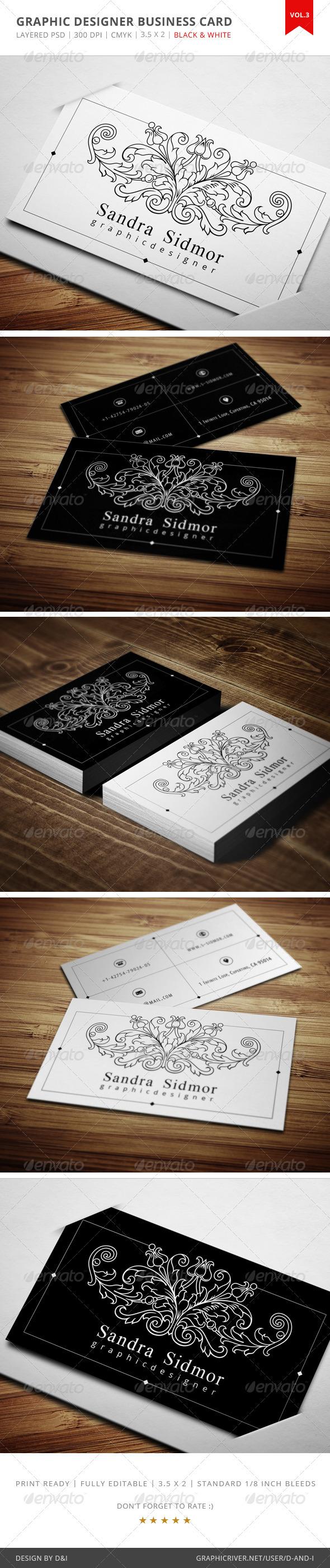 GraphicRiver Graphic Designer Business Card Vol.3 4027410