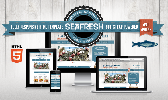 Delimondo Seafresh Fully Responsive HTML Template - Restaurants & Cafes Entertainment